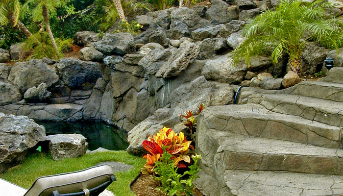 artificial stone waterfalls