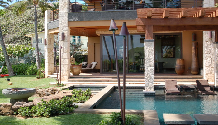residential hardscapes designs with water features